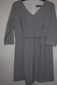 The Limited Black White Stripe Dress XL Plus